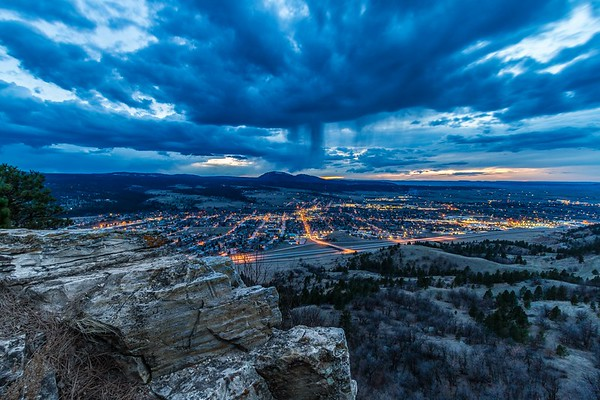 Rain over Spearfish