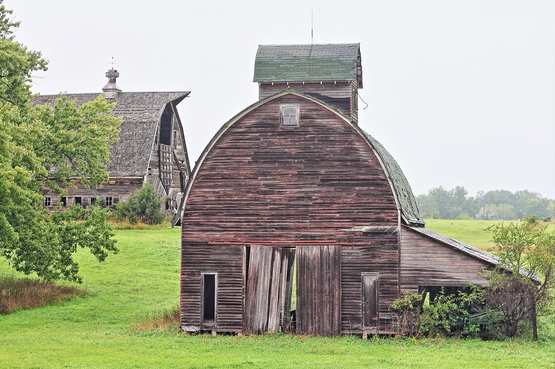 Barns west of Union Grove State Park