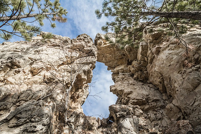 Natural arch near Savoy in Spearfish Canyon