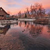 Sunset over the DC Booth Fish Hatchery in Spearfish