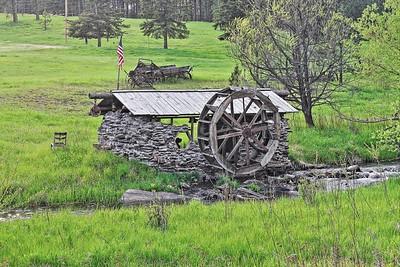 Old waterwheel along Boxelder Creek near Nemo