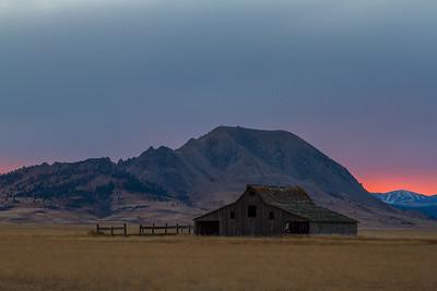 Sunset over Bear Butte