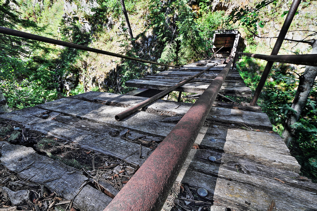 Bridge leading into the Two Johns Mine near Terry Peak
