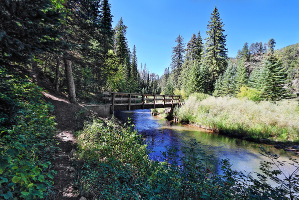 Bridge over Rapid Creek along the Deerfield Trail