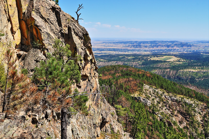 Overlooking Spearfish from Crow Peak