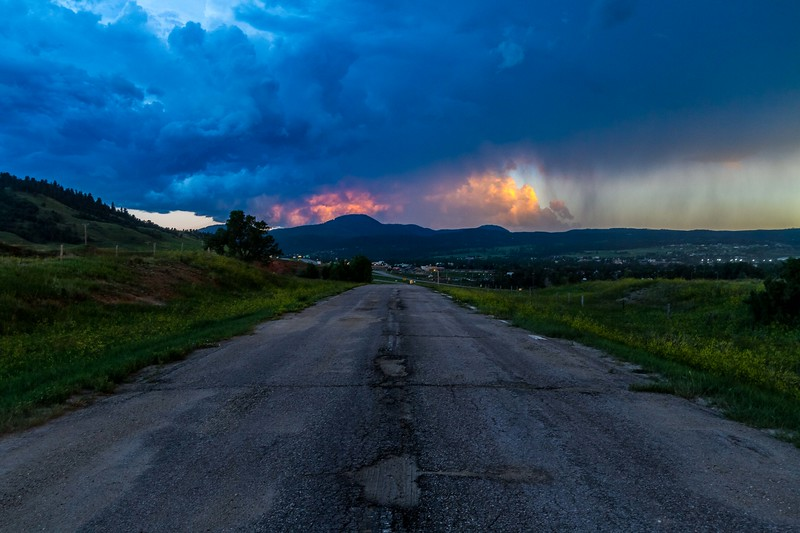 Stormy sunset over Spearfish