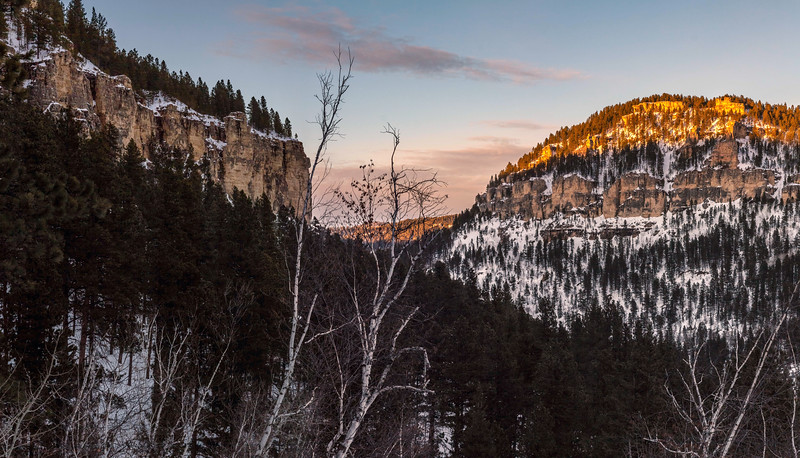 Evening light in Spearfish Canyon