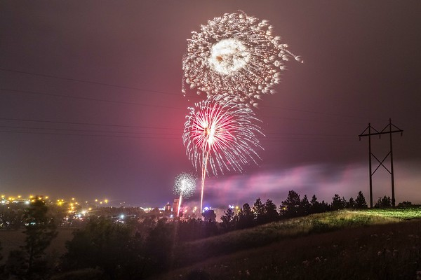 Fireworks in Belle Fourche, 4th of July, 2019