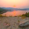 Smokey sunset over Pactola