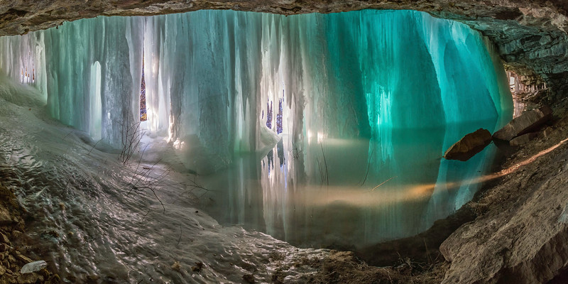 Ice in Baker's Cave in Spearfish Canyon