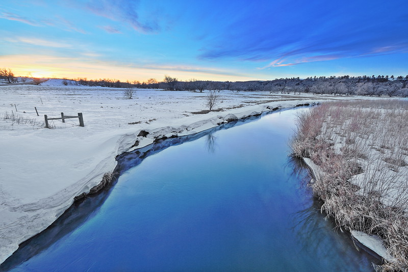 Evening sky over the Redwater River