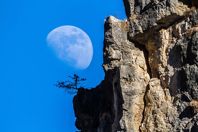 Moon over Spearfish Canyon