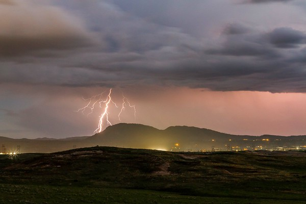 Lightning over Crow Peak