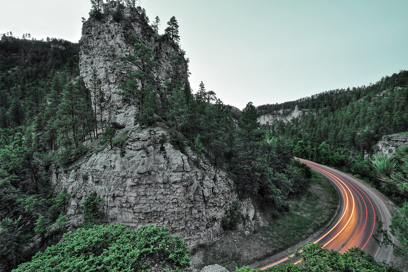 Spearfish Canyon at dusk