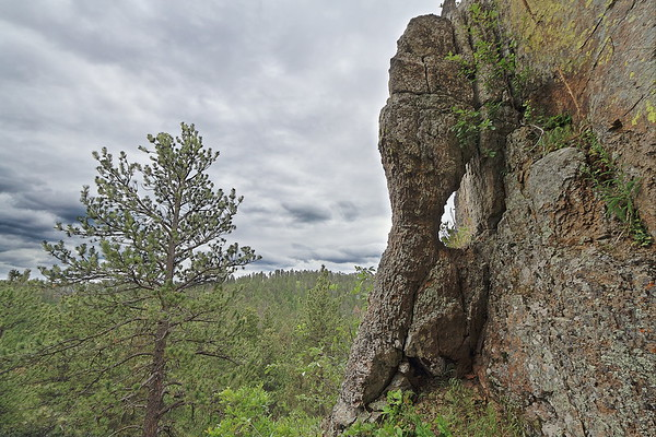 Window on Citadel Rock south of Crow Peak