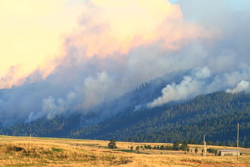 Fire on Crow Peak near Spearfish