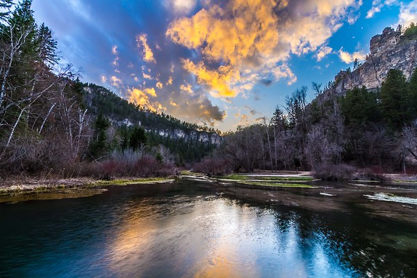 Sunset in Spearfish Canyon