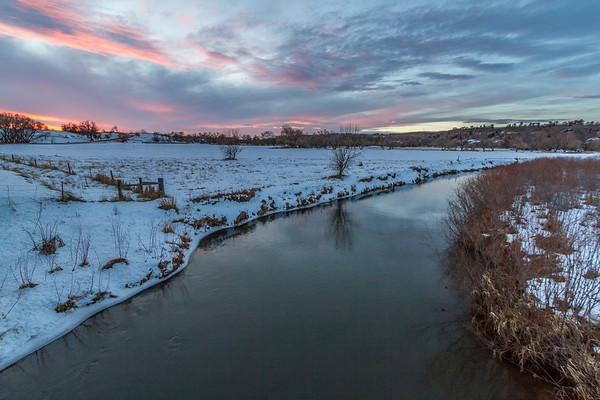 Evening sky over Redwater River