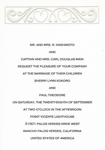2002 : Paul and Sherry's wedding announcement.