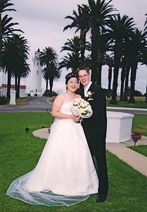 2002 : Post wedding portrait.   (paid photographer photo).