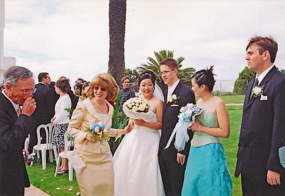 2002 : Greeting Line (paid photographer photo).