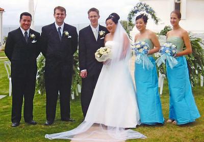 2002 : Post wedding photos ... the wedding party.