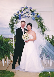 2002 :  Post wedding portrait (paid photographer photo).