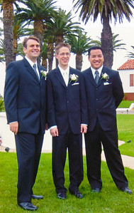 2002 : Groom and groomsmen Chris Peters and Anthony Nguyen.