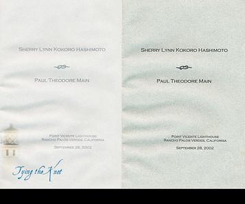2002 : The wedding program.