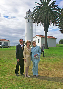 2002 : The wedding was at Point Vicente Lighthouse on the Palos Verdes Peninsula.