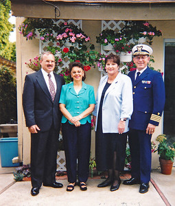 2002 : Jim and Janice stayed with Don and Judy Debok in Huntington Beach.  Don is dressed in his USCG uniform in order to be the officiant at the wedding.