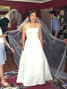 2002 : Sherry's bridal gown fitting.