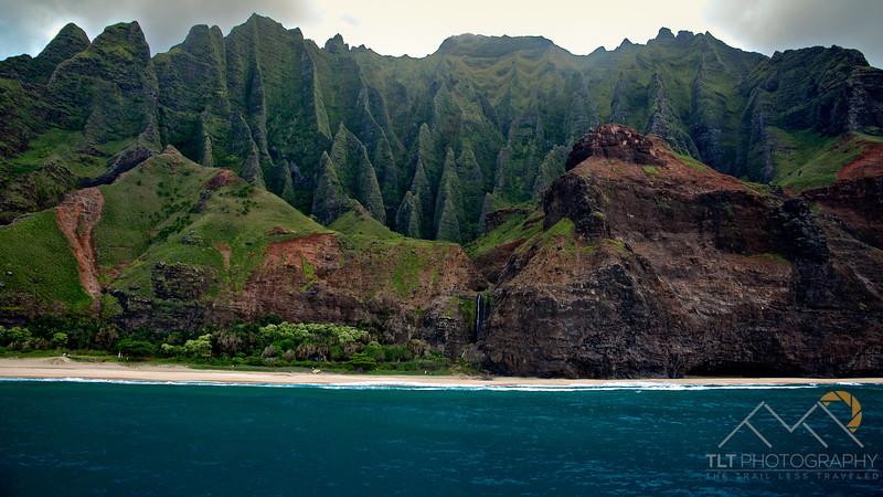 The amazing fluted knife-edge cliffs above Kalalau Beach, Kauai. Please Follow Me! https://tlt-photography.smugmug.com/