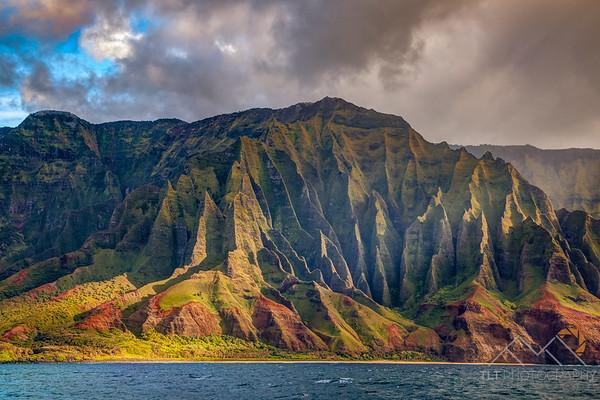 Fluted Cliffs Of The Na Pali Coast, Kauai Please Follow Me! https://tlt-photography.smugmug.com/