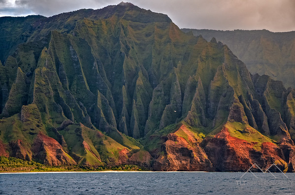 A good reference for the size of these fluted cliffs is the tiny helicopter seen here touring the Na Pali Coast of Kauai. Please Follow Me! https://tlt-photography.smugmug.com/