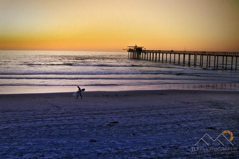 Scripps beach and pier under a California sunset. Please Follow Me! https://tlt-photography.smugmug.com/