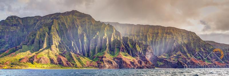 Fluted Cliffs Above Kalala Beach, Kauai. Please Follow Me! https://tlt-photography.smugmug.com/