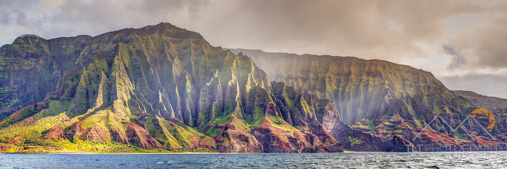 Fluted Cliffs Above Kalala Beach, Kauai. Please Follow Me! https://tlt-photography.smugmug.com/
