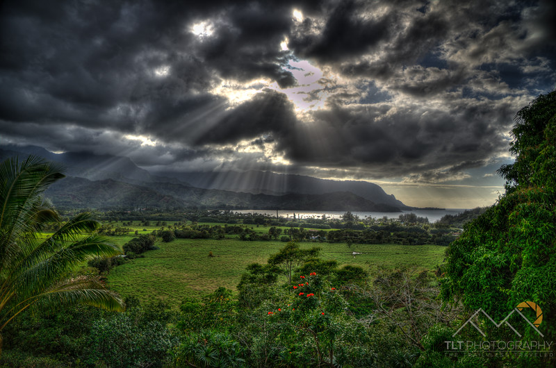 On our way to the north shore of Kauai under beautiful rays of sunshine poking through the clouds over Princeville, Kauai Please Follow Me! https://tlt-photography.smugmug.com/