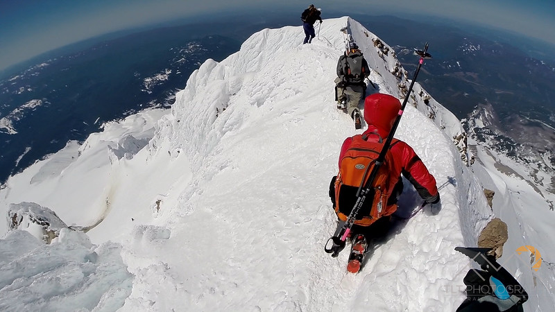 The summit ridge of Mount Hood from my GoPro. Please Follow Me! https://tlt-photography.smugmug.com/