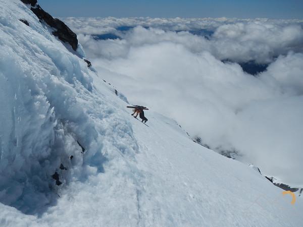 Ski Mountaineering on Mount Jefferson, Oregon. Please Follow Me! https://tlt-photography.smugmug.com/