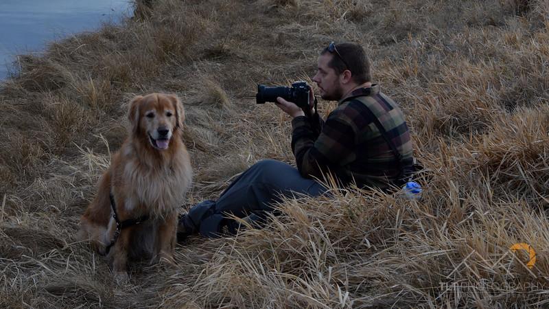 Fellow photographer and friend Jason Killian and Mckenzie getting some shots of the river otter on the Deschutes, Oregon. Please Follow Me! https://tlt-photography.smugmug.com/