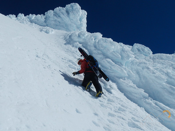 Josh Mcloughlin leading the way up to the summit ridge of Mt. Hood, Oregon Please Follow Me! https://tlt-photography.smugmug.com/