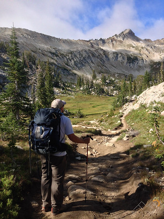 Looking up towards the ridge of Eagle Cap that I would climb. Please Follow Me! https://tlt-photography.smugmug.com/