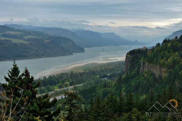 A great shot of Crown Point from Chanticleer Point on the Historic Columbia River Highway looking East down the Columbia River Gorge. Please Follow Me! https://tlt-photography.smugmug.com/