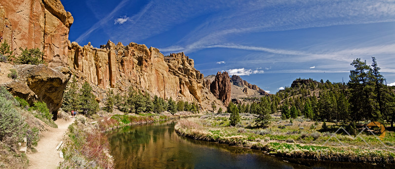 A wider panorama from the trail around Smith Rock in Oregon. Please Follow Me! https://tlt-photography.smugmug.com/