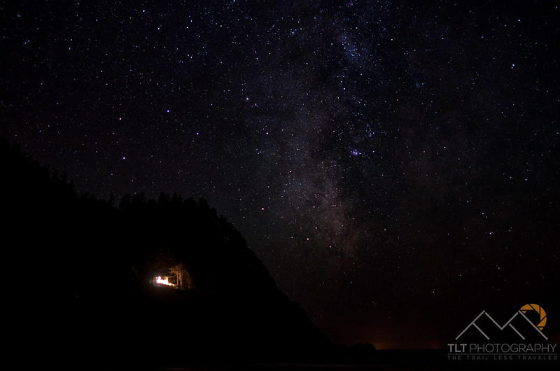 Starry skies over the Pacific Ocean from our private campsite on secret beach. Please Follow Me! https://tlt-photography.smugmug.com/
