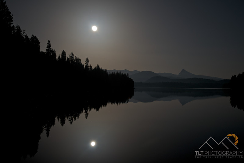 Moon glow over Lake Lemolo, Oregon with Thielsen in the distance. Please Follow Me! https://tlt-photography.smugmug.com/