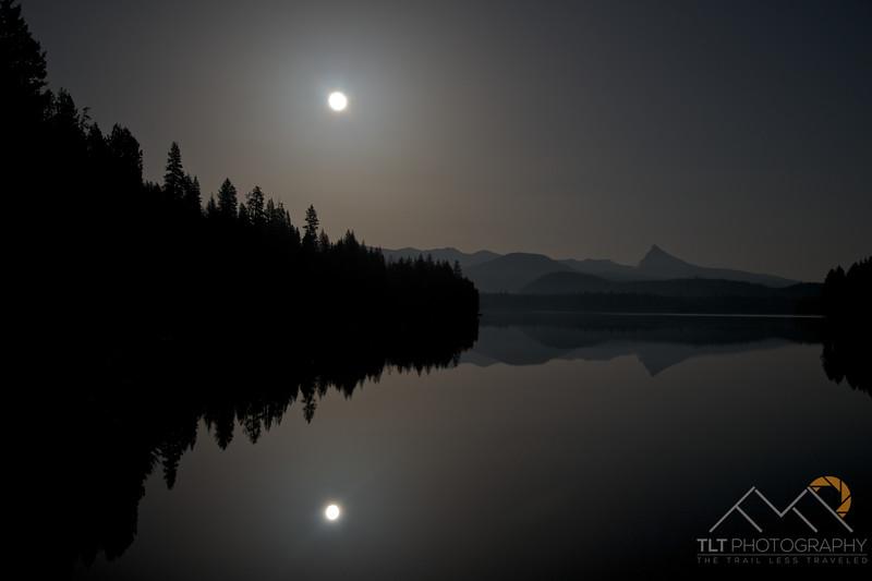 Moon glow over Lake Lemolo, Oregon with Thielsen in the distance. Please Follow Me! https://tlt-photography.smugmug.com/