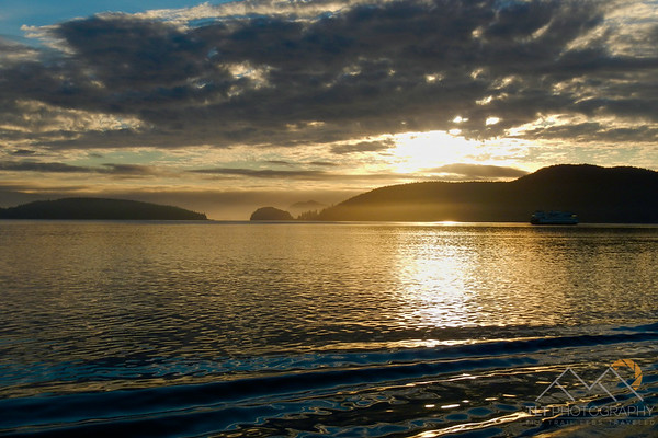Sunset from a ferry in the San Juan Islands of Washington. Please Follow Me! https://tlt-photography.smugmug.com/